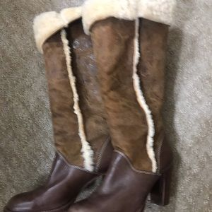 MICHAEL Michael Kors Shoes - KORS MICHAEL KORS Leather and Suede w/Sherpa Boots